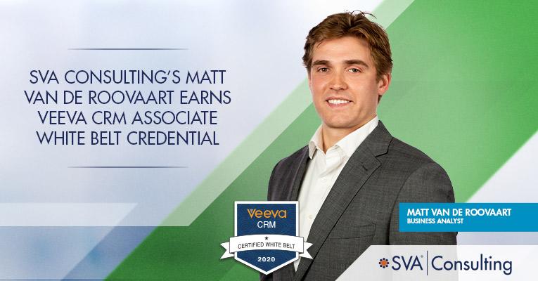 SVA-Consultings-Matt-Van-de-Roovaart-Earns-Veeva-CRM-Associate-White-Belt-Credential
